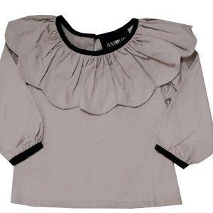 Amour Bows Joker Ruffle Shirt Girls Size 10